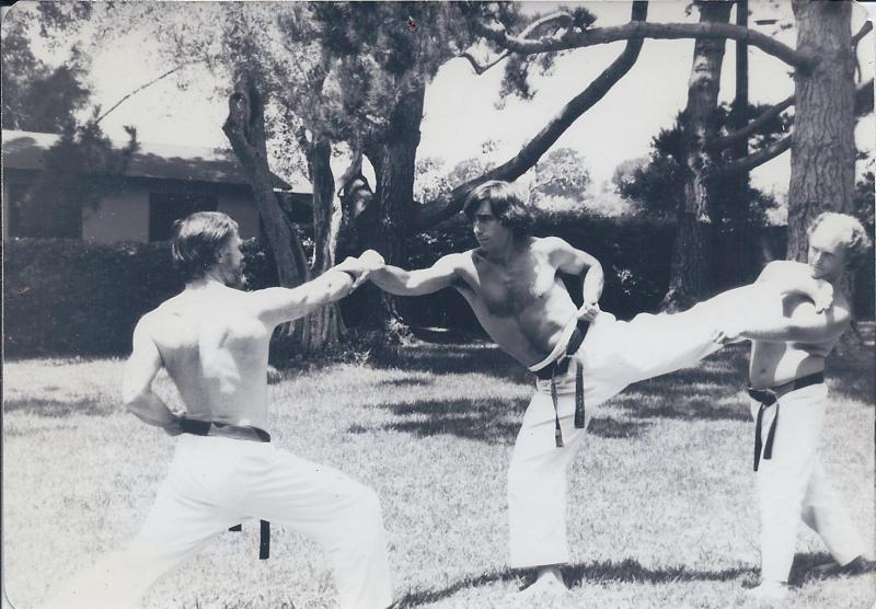 Picture donated by David Krieger Sensei with yudansa (circa 1975)