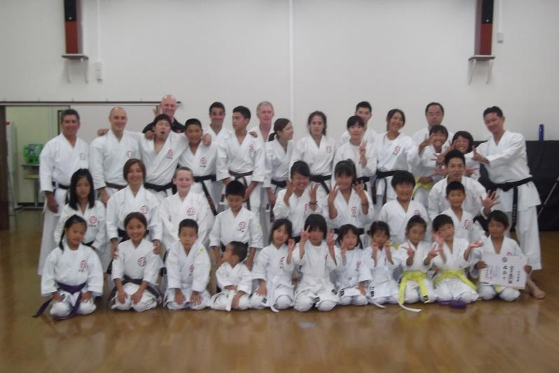 Training and visiting Osaka, Shito Ryu Karate Dojo 2013