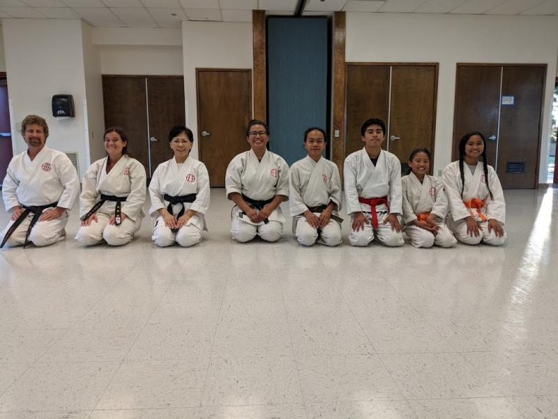 Yudansa and students Santa Maria, Dojo 2018