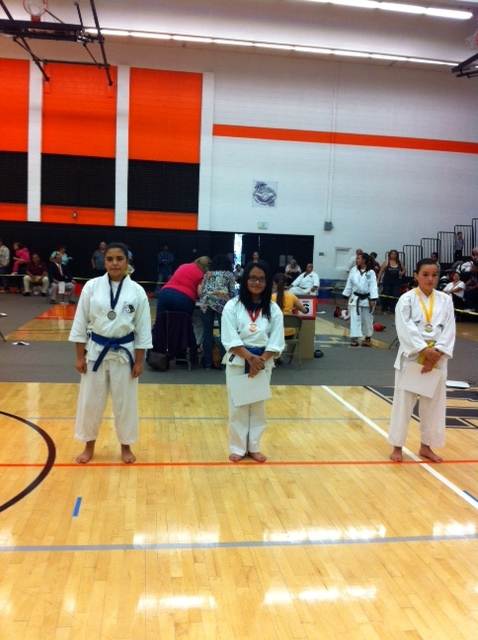 Abby Alano 3rd place kata girls 13 years old Kubota Championships 10/6/13